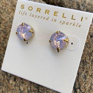 Sorrelli Rose Water Swarovski Pierced Earrings NWT